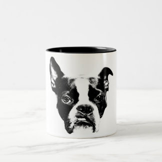 Mean Muggin! Boston Terrier Attitude Two-Tone Coffee Mug