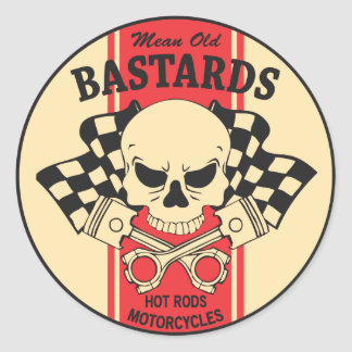 Mean Old Bastards Classic Round Sticker
