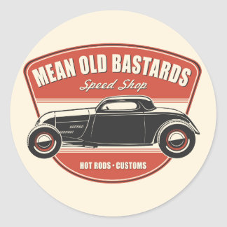 Mean Old Bastards Coupe Round Sticker