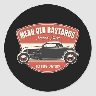 Mean Old Bastards Coupe Round Sticker