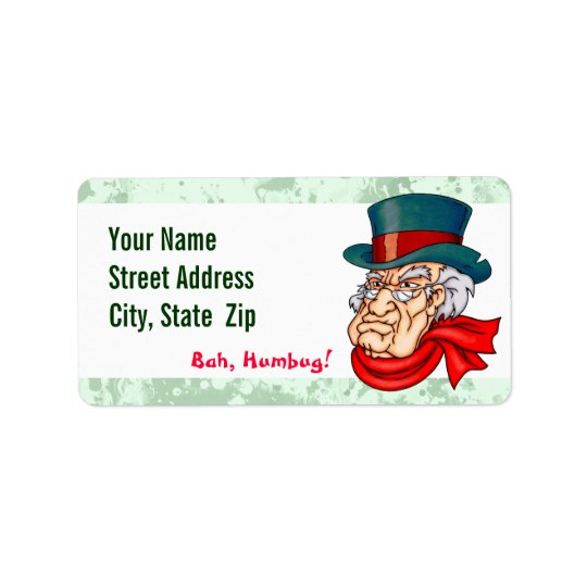 Mean Old Scrooge Label