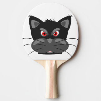Mean Old Tom Cat Ping Pong Paddle