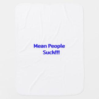Mean People Suck Baby Blanket