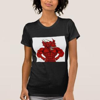 Mean Red Dragon Mascot T-Shirt