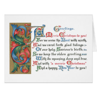 Meaning of Christmas Big Greeting Card