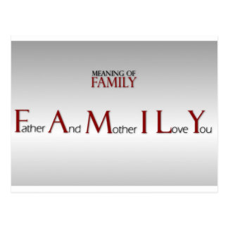 Meaning of Family Inspirational Postcard