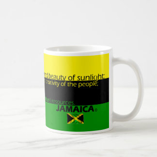 Meaning of Jamaica's Flag Colors Coffee Mug
