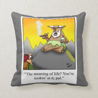Meaning Of Life Cigar Humor Pillow Gift