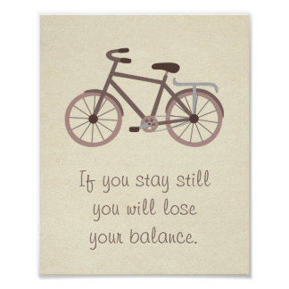 Meaningful Bicycle Quote Saying Wall Decor Poster
