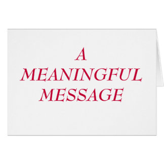 MEANINGFUL MESSAGE:  HEART TO HEART 18 NOTE CARD