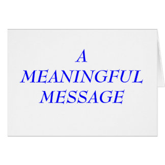 MEANINGFUL MESSAGE:  INCARCERATION 4 NOTE CARD