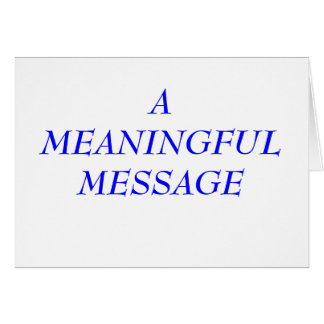 MEANINGFUL MESSAGE:  INCARCERATION 5A NOTE CARD