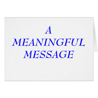 MEANINGFUL MESSAGE:  INCARCERATION 8 NOTE CARD
