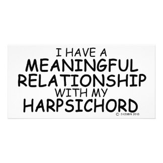 Meaningful Relationship Harpsichord Custom Photo Card