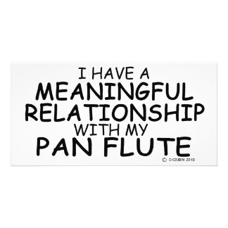 Meaningful Relationship Pan Flute Personalized Photo Card