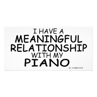 Meaningful Relationship Piano Custom Photo Card