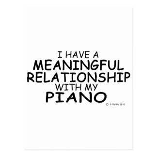 Meaningful Relationship Piano Post Card