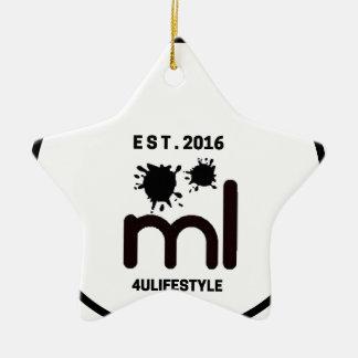 MeaningfulLiving Brand circle logo Ceramic Star Decoration