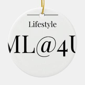 MeaningfulLiving Brand ML@4U Round Ceramic Decoration