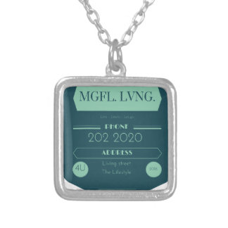 MeaningfulLiving chalkboard logo Silver Plated Necklace