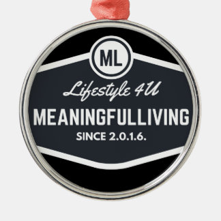 MeaningfulLiving sign logo Silver-Colored Round Decoration