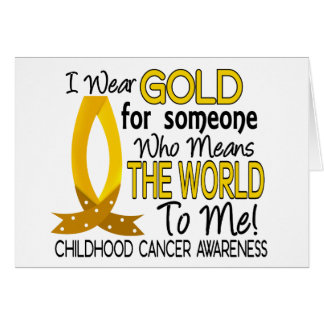Means The World To Me Childhood Cancer Card