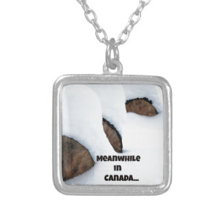 Meanwhile in Canada... Silver Plated Necklace