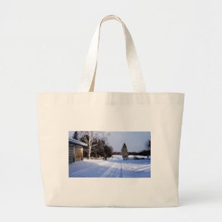 Meanwhile in Canada, Winter! Large Tote Bag