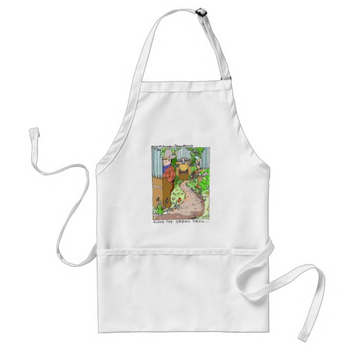 Meanwhile On The Organ Trail Funny Tees Mugs Etc. Apron