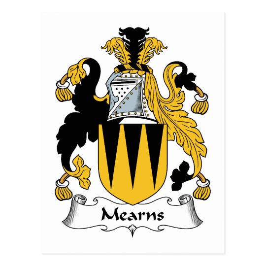 Mearns Family Crest Postcard