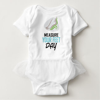 Measure Your Feet Day - Appreciation Day Baby Bodysuit