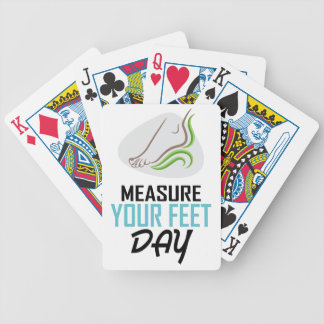 Measure Your Feet Day - Appreciation Day Bicycle Playing Cards