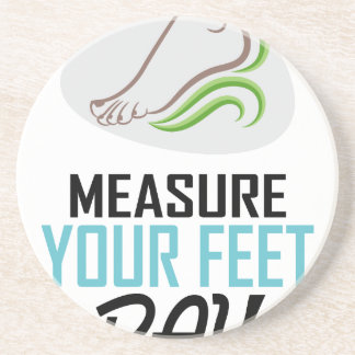 Measure Your Feet Day - Appreciation Day Coaster