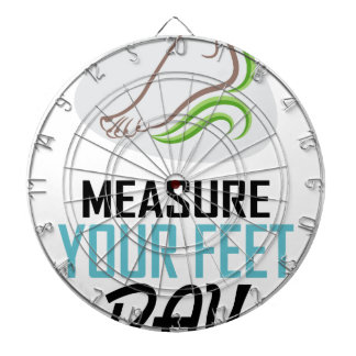 Measure Your Feet Day - Appreciation Day Dartboard