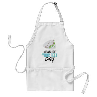 Measure Your Feet Day - Appreciation Day Standard Apron