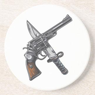 Measurer pistol knife gun coaster