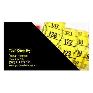 Measuring tape business card