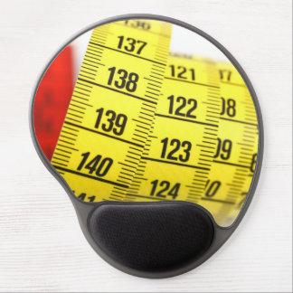 Measuring tape gel mousepads