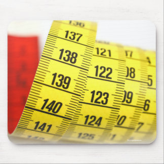 Measuring tape mouse pads