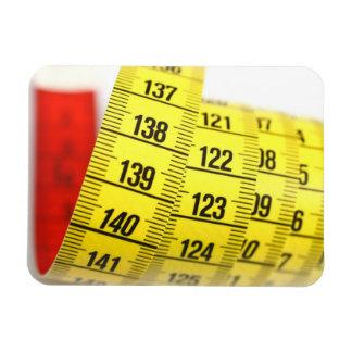 Measuring tape rectangle magnet