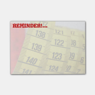 Measuring tape post-it® notes