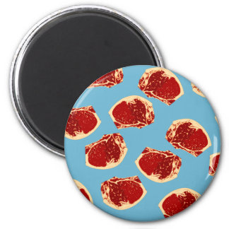 Meat 6 Cm Round Magnet