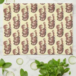 Meat and Potatoes Meatloaf Mushroom Gravy Cooking Tea Towel