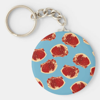 Meat Basic Round Button Key Ring