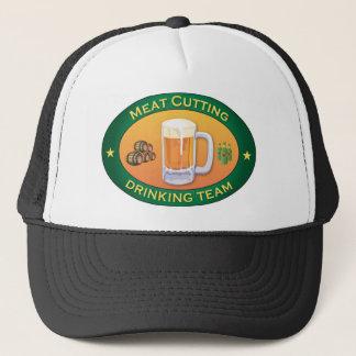 Meat Cutting Drinking Team Trucker Hat