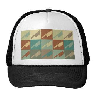 Meat Cutting Pop Art Mesh Hats