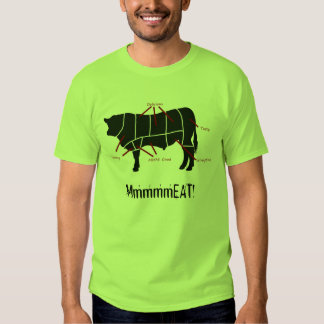 Meat Eater! Funny Tasty Beef Cuts Butcher Chart Tshirts