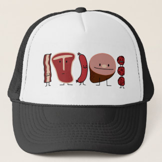 Meat Family T-bone, Sausage, Meatballs... Trucker Hat