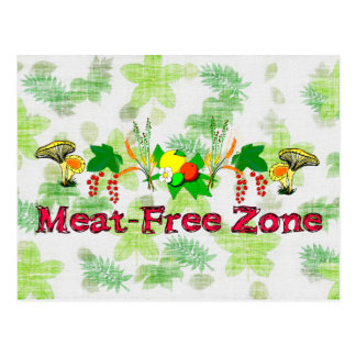 Meat-Free Zone Postcard