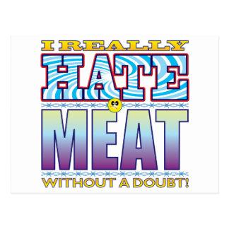 Meat Hate Face Postcard